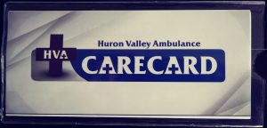 Huron Valley Ambulance Care Card