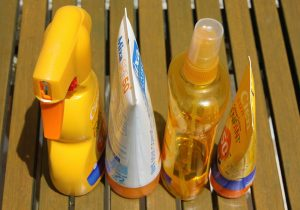 Containers of sunscreen