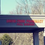 drive-thru pharmacy sign